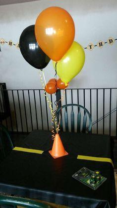 Black, Orange and Yellow Balloons