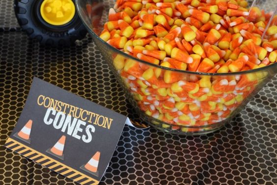 Candy Corn Traffic Cones