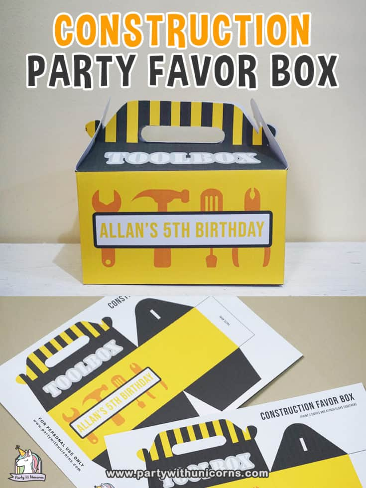 Free Printable Toolbox Party Favor