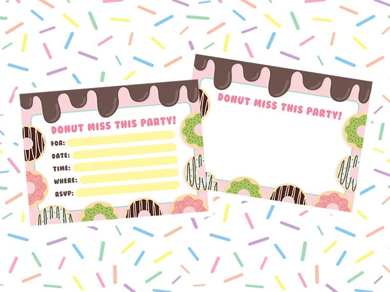 Download free kids party invitations