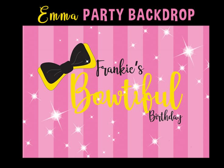 Emma Wiggle Birthday Backdrop