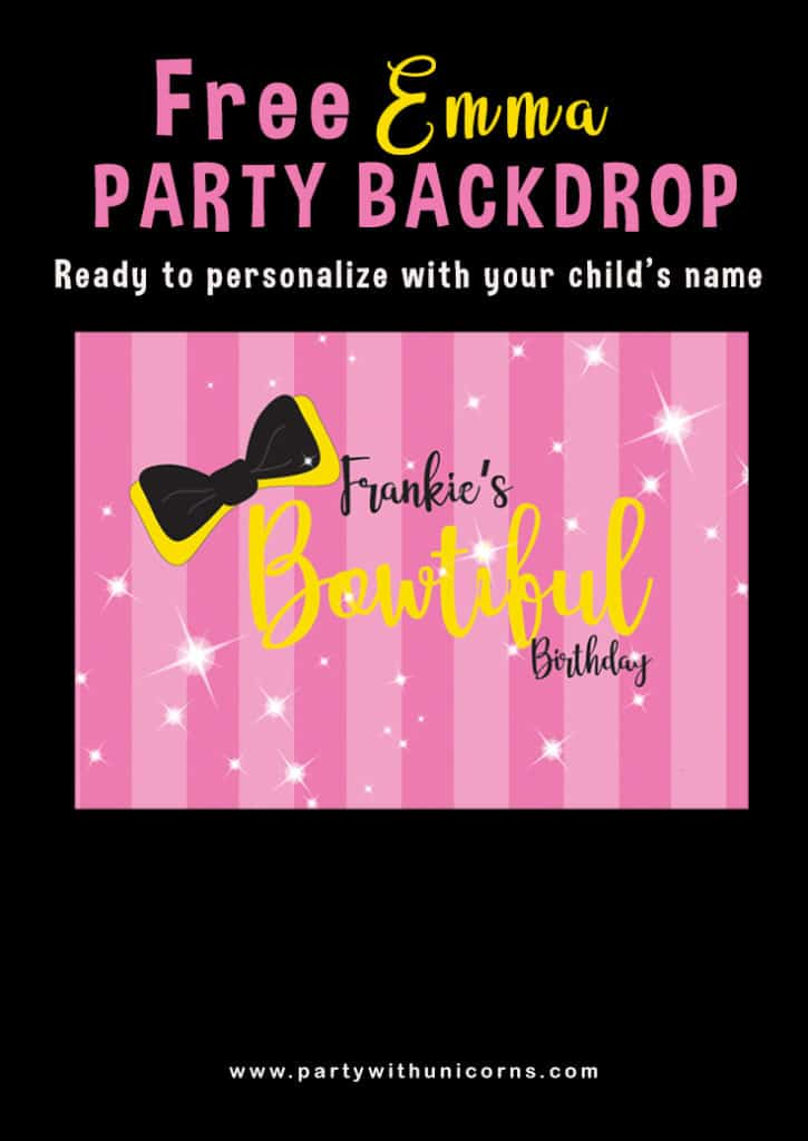 Printable Emma Wiggle Party Backdrop
