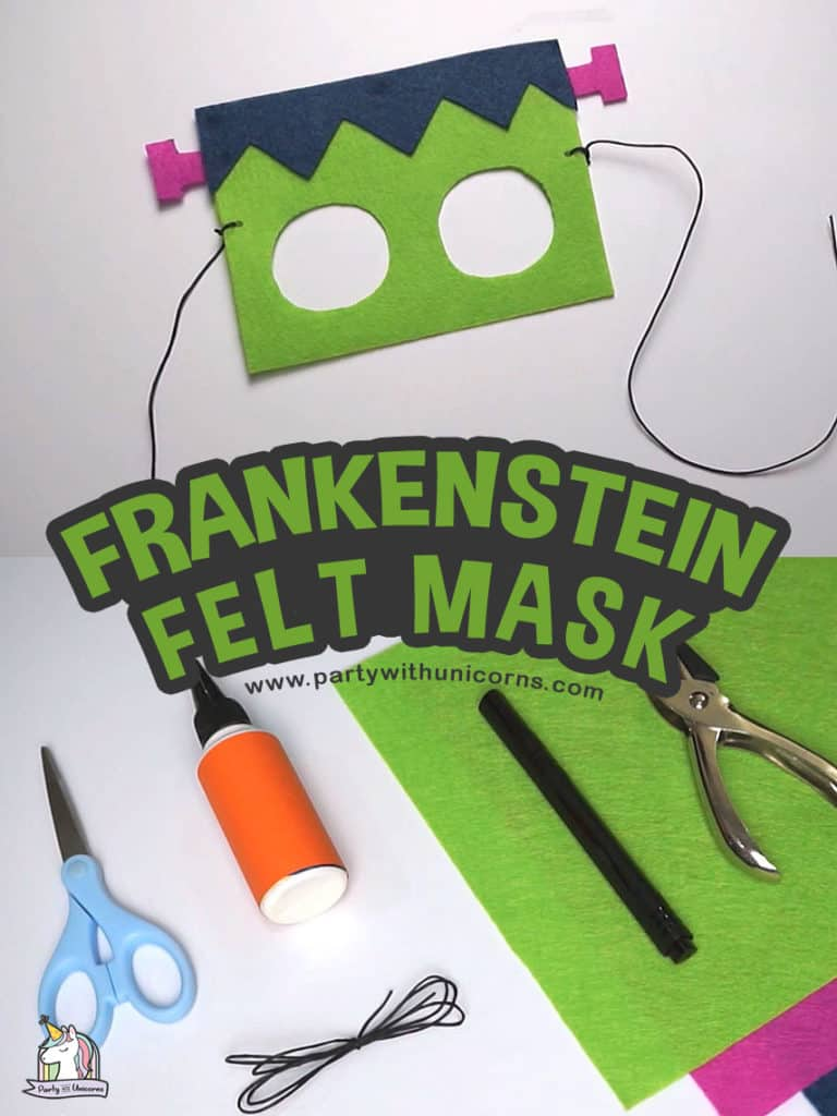 DIY Felt Frankenstein Mask
