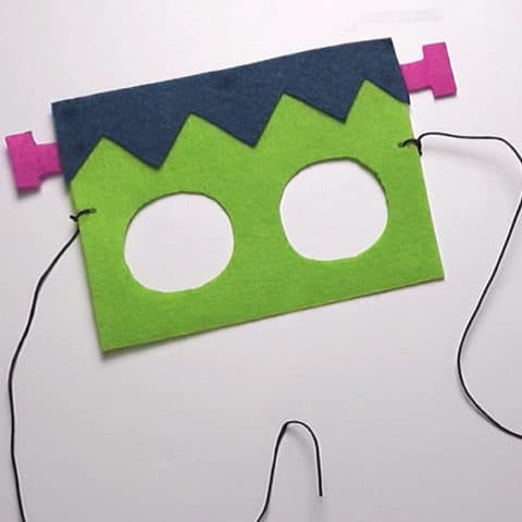 Frankenstein Felt Mask for Kids