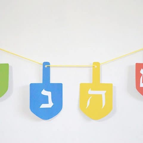 DIY Hanukkah Decoration - Dreidel Garland