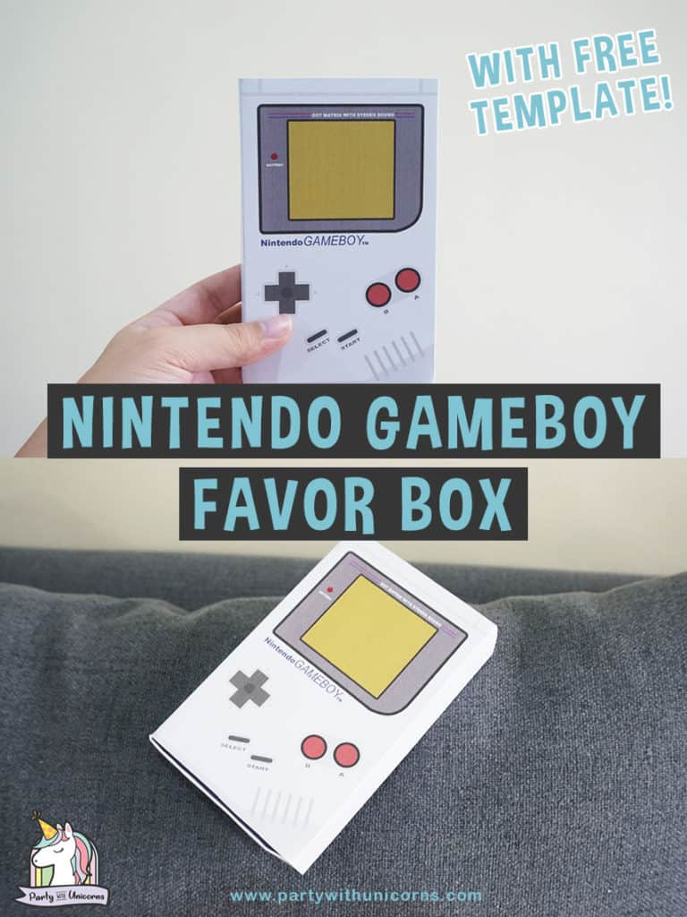 nintendo Favor Box