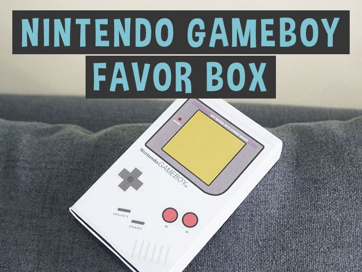 Gameboy favor box