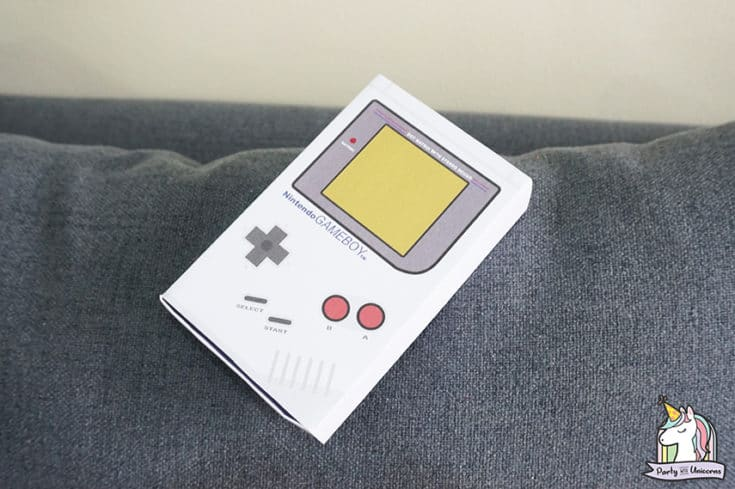 Nintendo Gameboy Favor Box