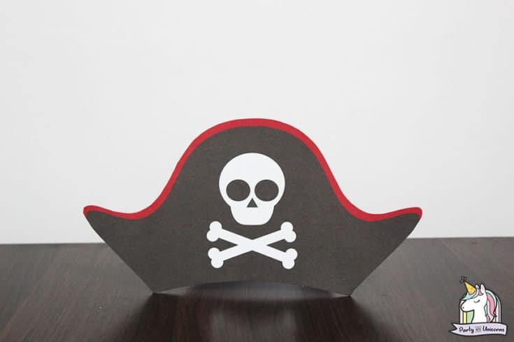 image about Printable Pirate Hats named Printable Pirate Hat Template For Children