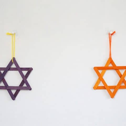DIY Star of David Wall Ornament