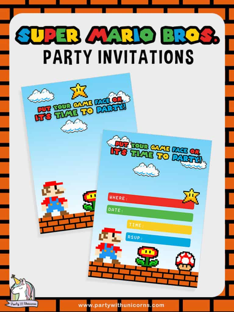 Free Super Mario Party Invitations