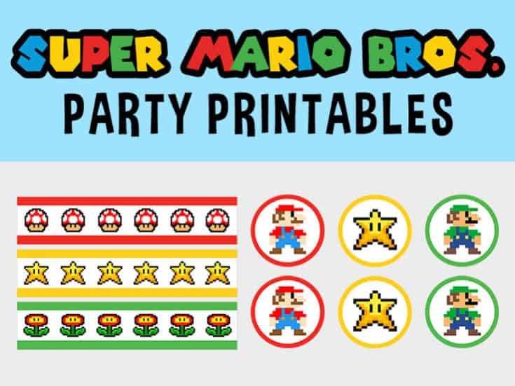 This is a picture of Monster Super Mario Party Printables