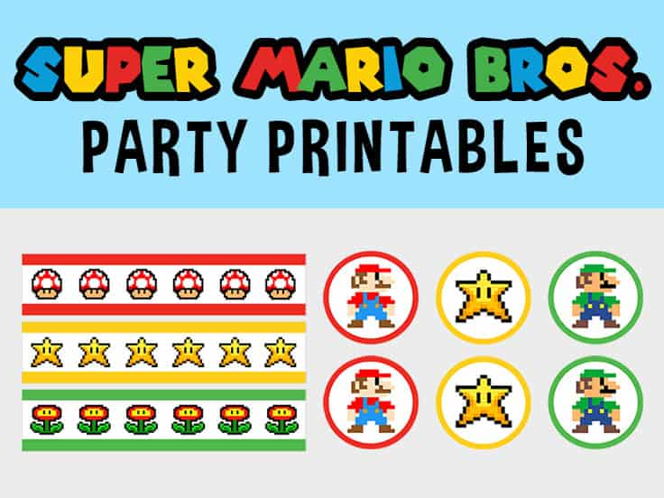 Free Super Mario Party Printables Set