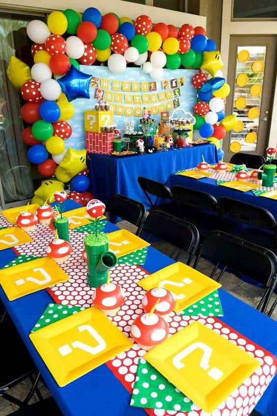 Super Mario Party Table Set-up