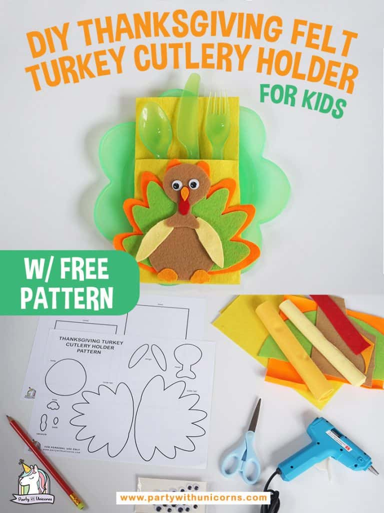 Thanksgiving Cutlery holder craft for kids