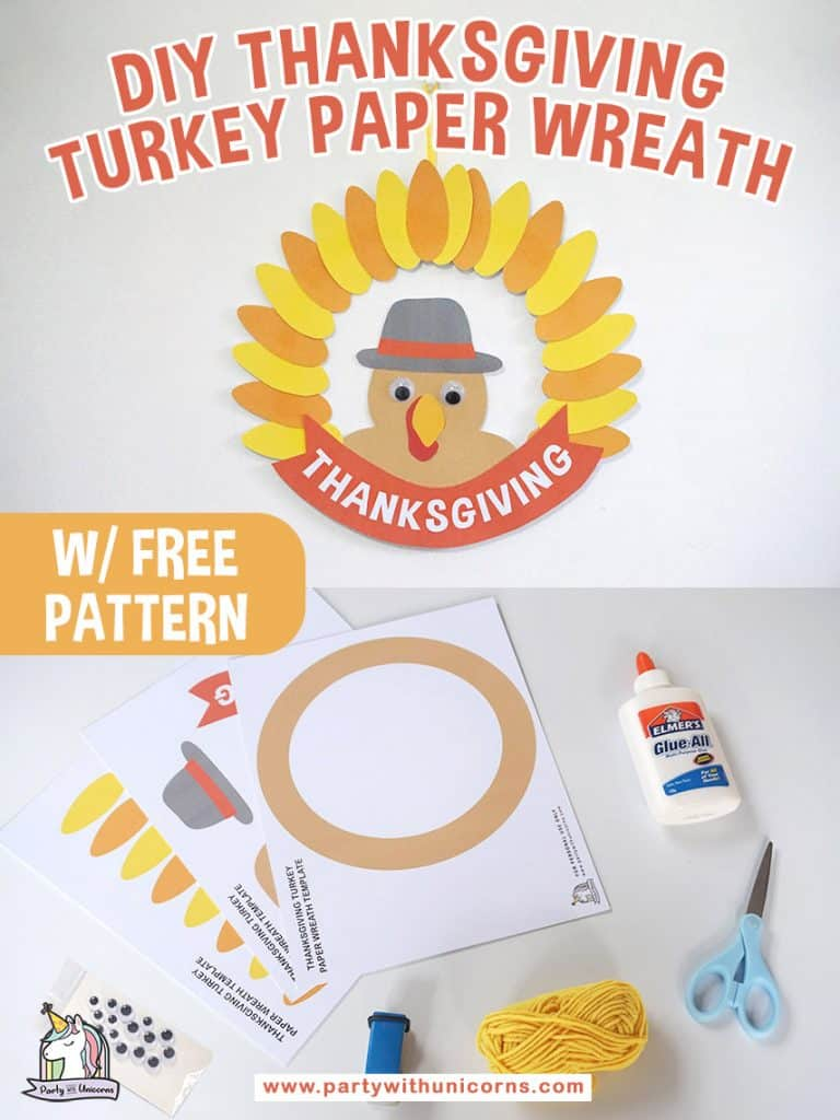 DIY Thanksgiving Wreath Craft for Kids