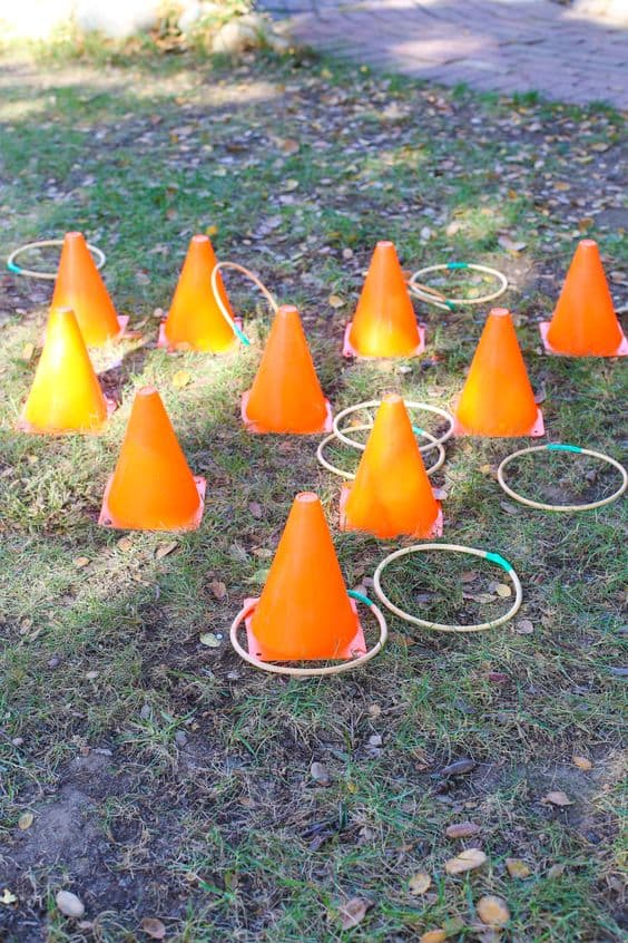 Traffic Cone Ring Toss Game