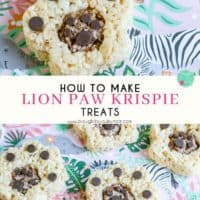 Lion Paw Krispie Treats