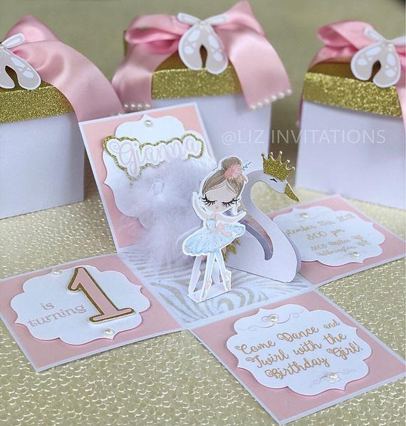 Swan Lake Ballerina Invitations
