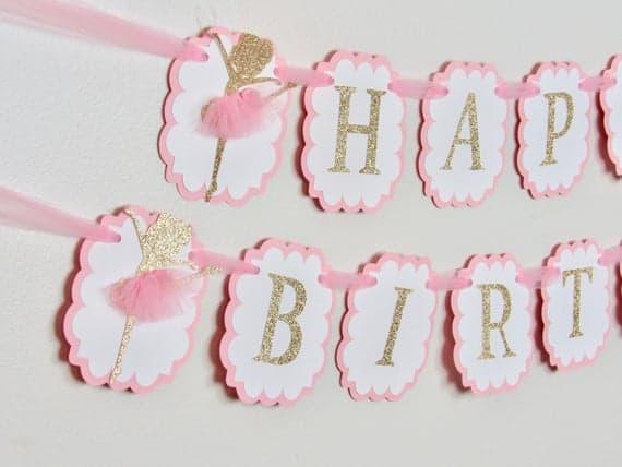 Ballerina Birthday Banner