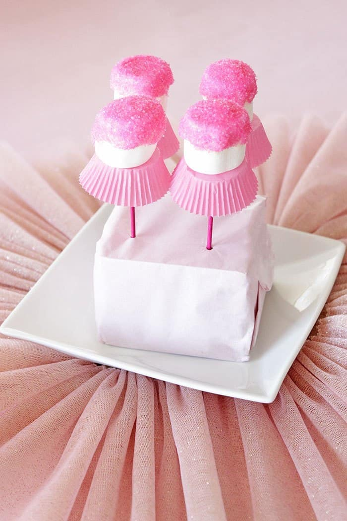 Ballerina Party Food - Marshmallow Pops