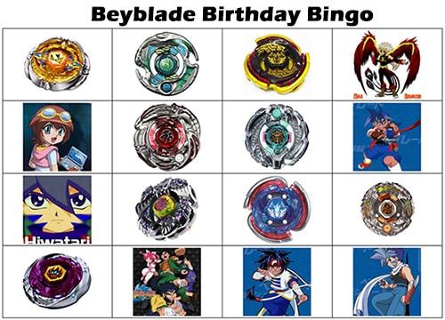 Free Printable Beyblade Bingo