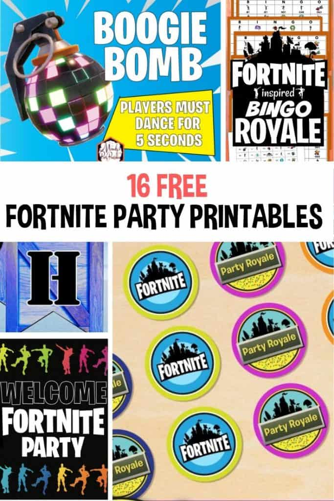 16 Free Fortnite Party Printables