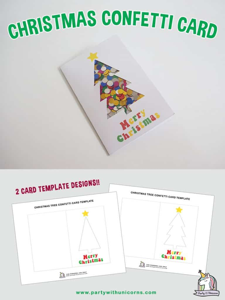 Christmas Confetti Card craft for kids
