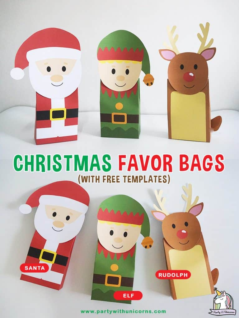 DIY Christmas Gift Bags Craft