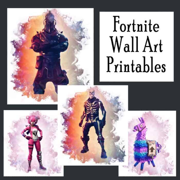 Free Fortnite Printable Posters (Set of 4!)