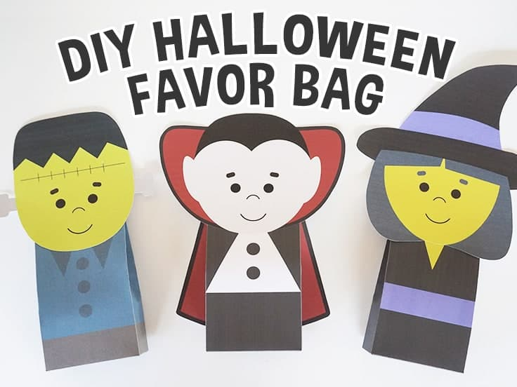 Halloween Favor Bag Templates