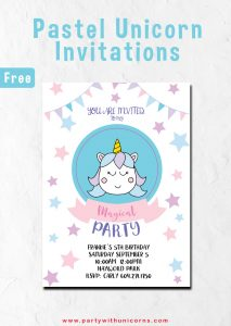 Pastel Unicorn Invitation