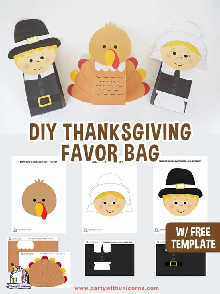 DIY Thanksgiving Favor Bags Craft