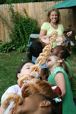 Donut Party Game - Donuts on a string