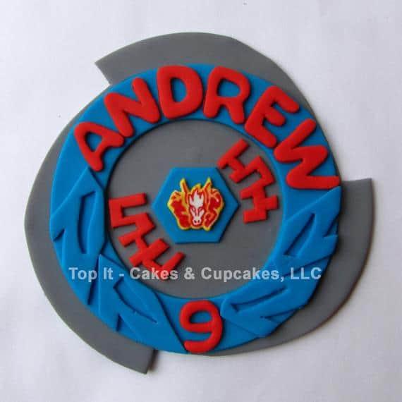 Beyblade Fondant Cake Topper - Pegasus