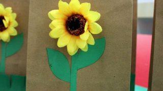 Sunflower Favor Bag