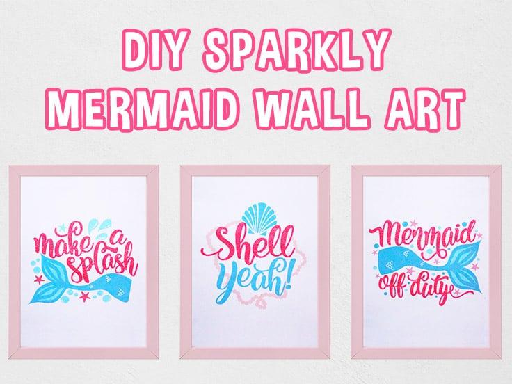 DIY Mermaid Wall Art