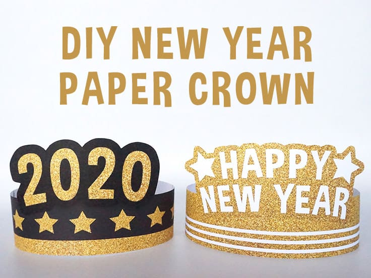 New year paper crown