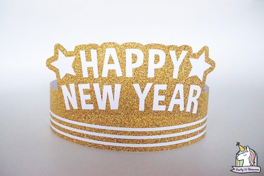 DIY New Years Eve Paper Crown