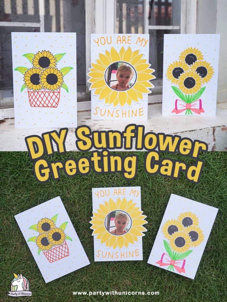 DIY Sunflower Card Craft for kids
