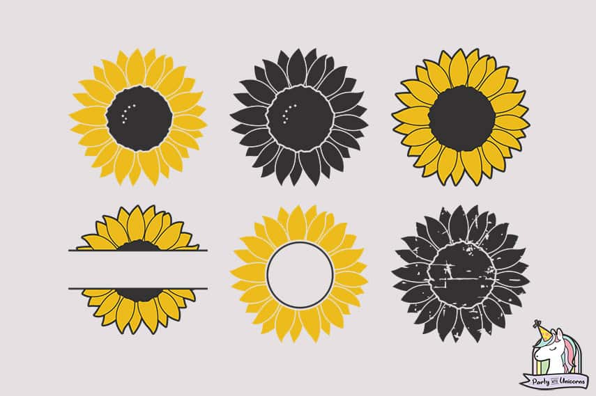 sunflower svg graphics