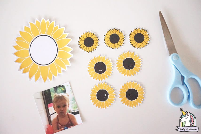 Sunflower Card craft step