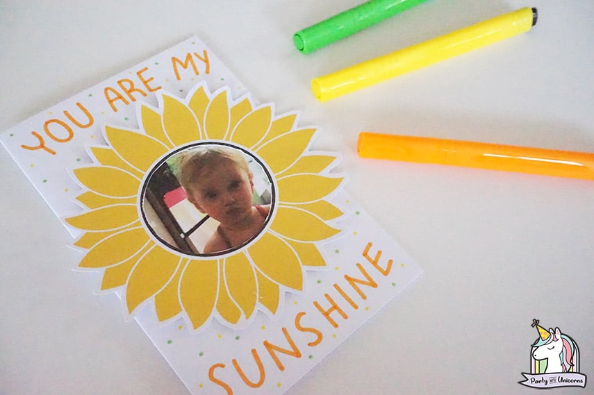 Sunflower picture card