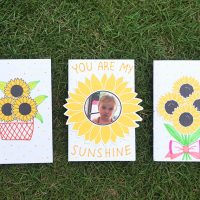 DIY Sunflower Greeting Cards