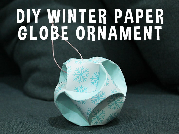 Winter Snowflake Globe Ornament