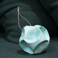 Winter Snowflake Paper Globe Ornament