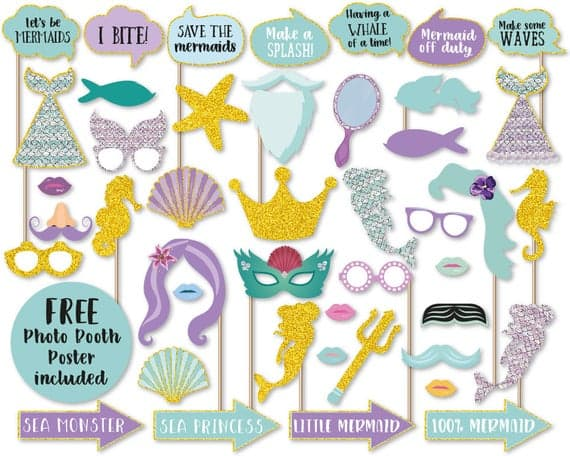 Mermaid Photo Booth Props
