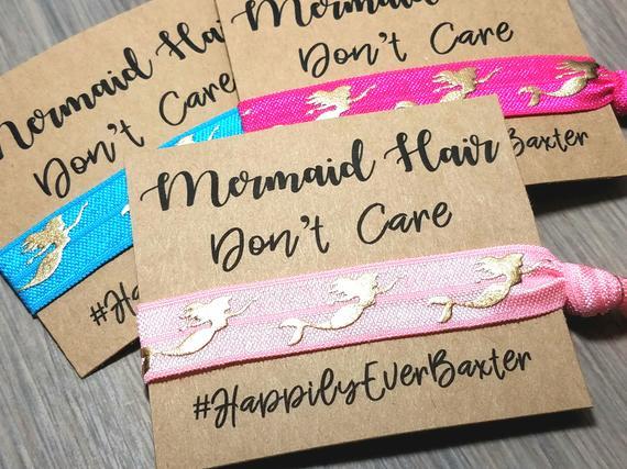 Mermaid Hair Tie Party Favors