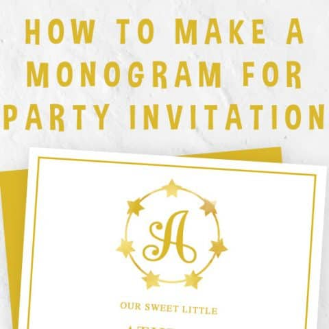How to Make a Monogram for Party Invitation