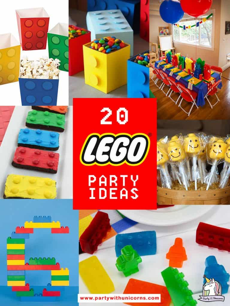 a list of 20 fun lego party ideas